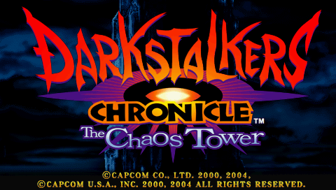 Darkstalkers Chronicle: The Chaos Tower PSP Title screen