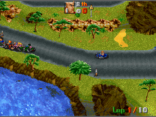 Street Racer DOS You can also play in micro mode, which turns the game into a top-down racer à la Micro Machines.