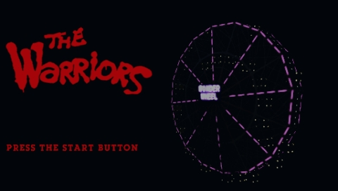 The Warriors PSP Title screen