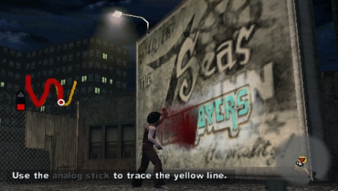 The Warriors PSP In most missions you can write graffiti on walls to get extra points.