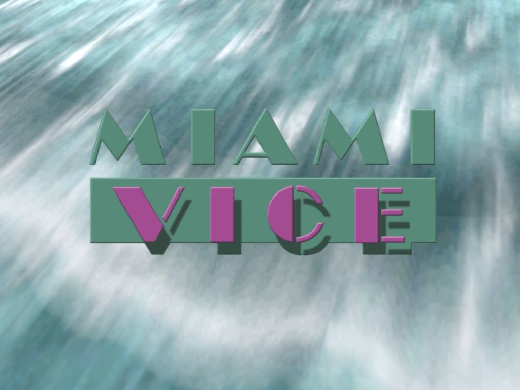 Miami Vice Windows Title screen