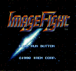 ImageFight TurboGrafx-16 Title screen.