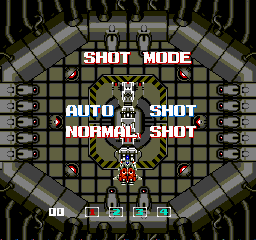 ImageFight TurboGrafx-16 Shot mode selection screen.