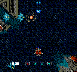 ImageFight TurboGrafx-16 Shooting some enemies.