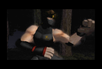 Dead or Alive SEGA Saturn Intro shot 4. Hayabusa introduction.