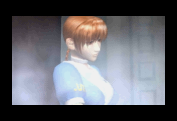 Dead or Alive SEGA Saturn Intro shot 6. Kasumi introduction.