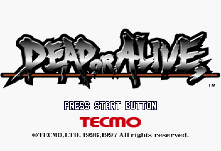 Dead or Alive SEGA Saturn Title screen.