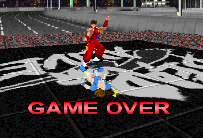 Dead or Alive SEGA Saturn And that's the GAME OVER!
