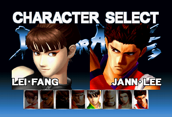 Dead or Alive SEGA Saturn VS Mode player select 1.