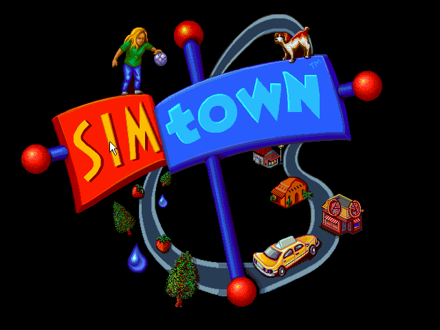 SimTown Windows 3.x Title screen