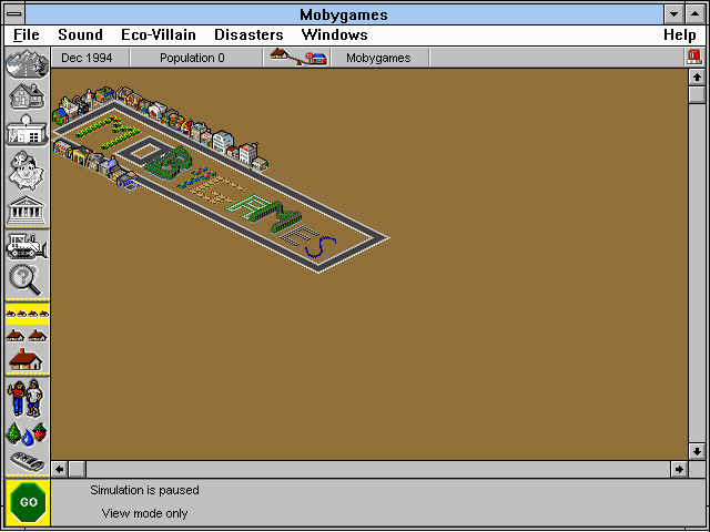 SimTown Windows 3.x Zoom out