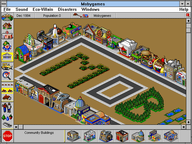 SimTown Windows 3.x Normal view