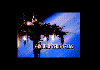 Ground Zero Texas SEGA CD Game title during the animation