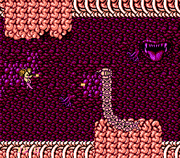 Legendary Wings NES Underworld worm