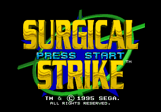 Surgical Strike SEGA CD Title screen