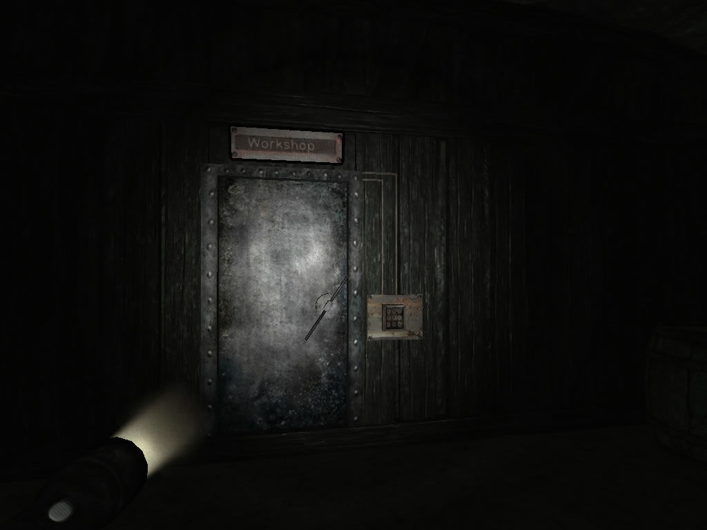 Penumbra: Overture - Episode 1 Windows The entrance to the workshop requires a code.