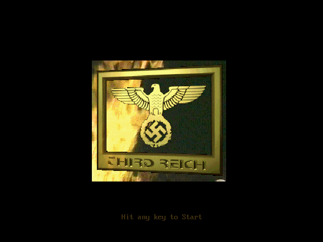 Third Reich DOS Title screen