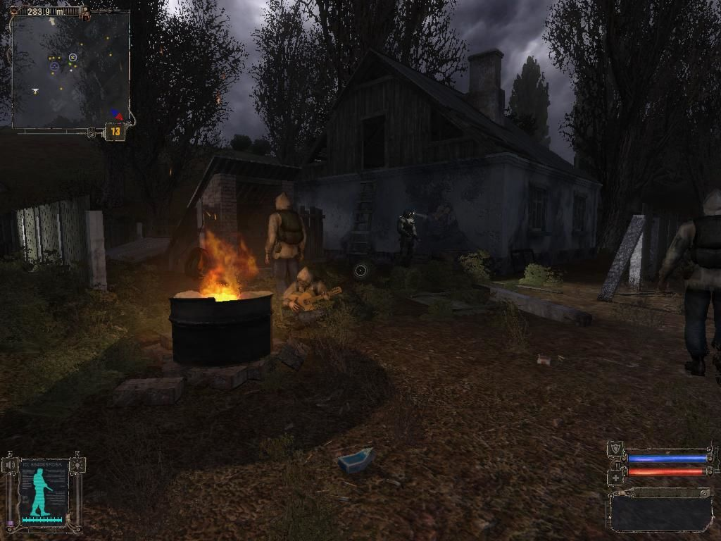 S.T.A.L.K.E.R.: Shadow of Chernobyl Windows Campfire is a good place to catch some music.