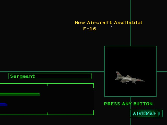 Ace Combat 2 PlayStation A new aircraft is available.
