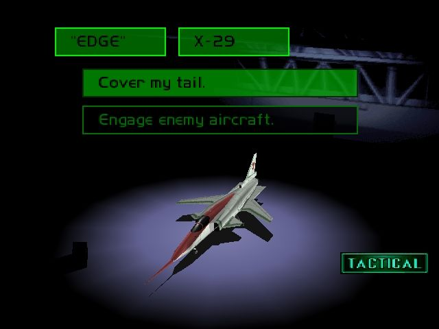 Ace Combat 2 PlayStation Give him orders and an aircraft.