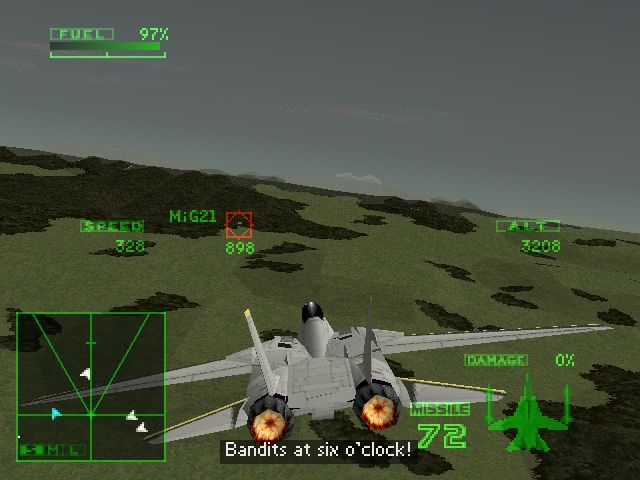 Ace Combat 2 PlayStation That MiG-21 is in big trouble...