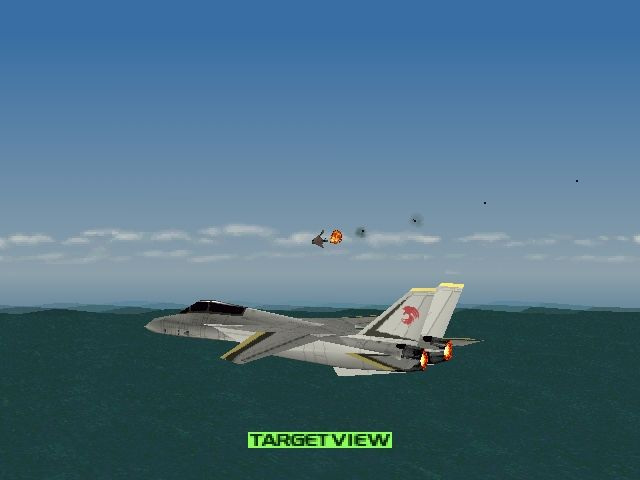 Ace Combat 2 PlayStation Target view