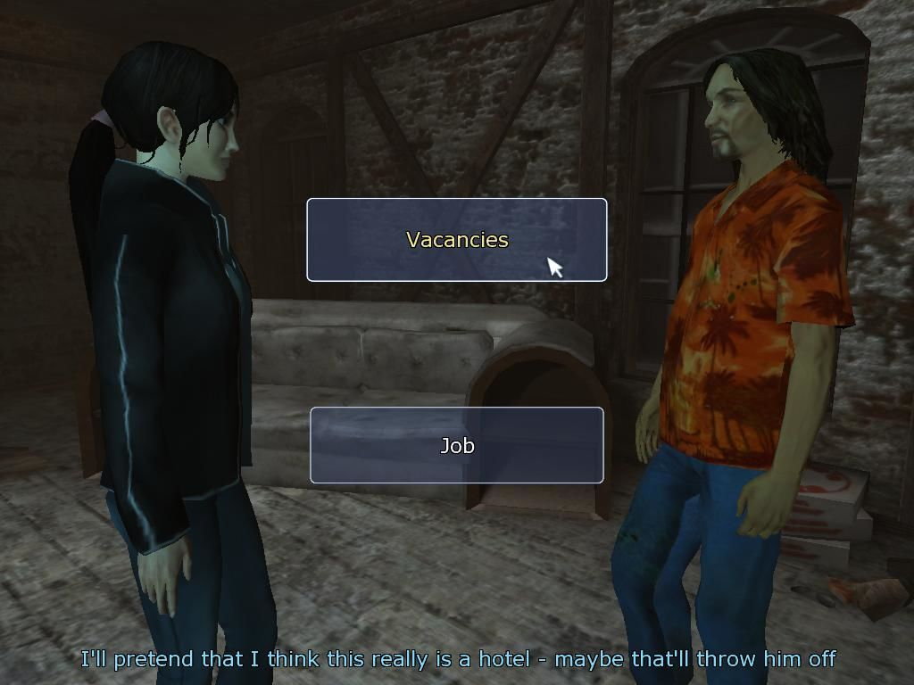 Dreamfall: The Longest Journey Windows Some dialogue choices don't affect the outcome of the conversation. In this case, however, the wrong choice will lead to a fight you won't be able to win.