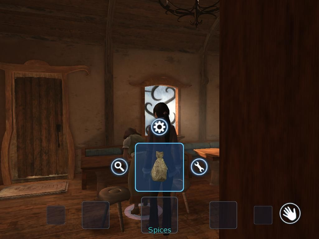 Dreamfall: The Longest Journey Windows When you open your inventory, you have several choices. The upper one is to use the object on whatever you're currently locked on.
