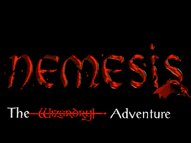 Nemesis: The Wizardry Adventure DOS Title screen