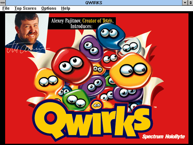 Qwirks Windows 3.x Title screen