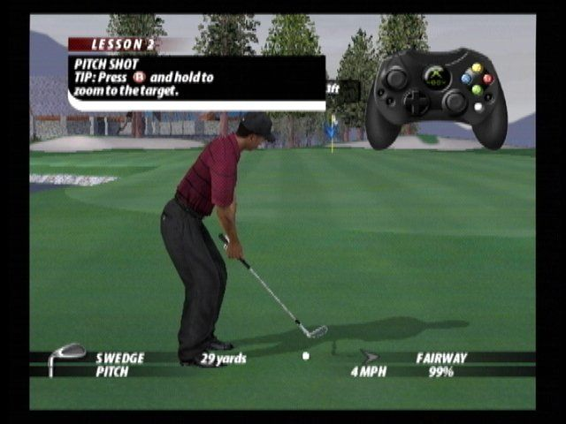 Tiger Woods PGA Tour 2005 Xbox The rather comprehensive tutorial mode