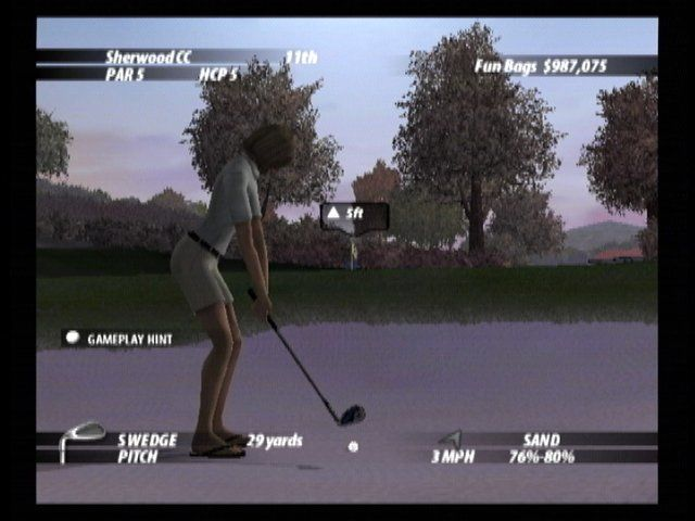 Tiger Woods PGA Tour 2005 Xbox Hitting from the sand trap