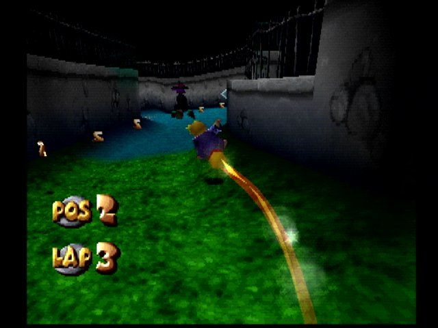 40 Winks PlayStation One of the racing levels