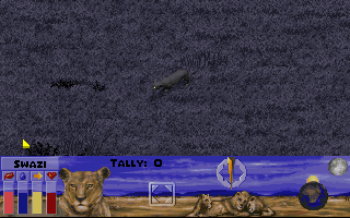 Lion DOS Simulation mode - nocturnal hunting