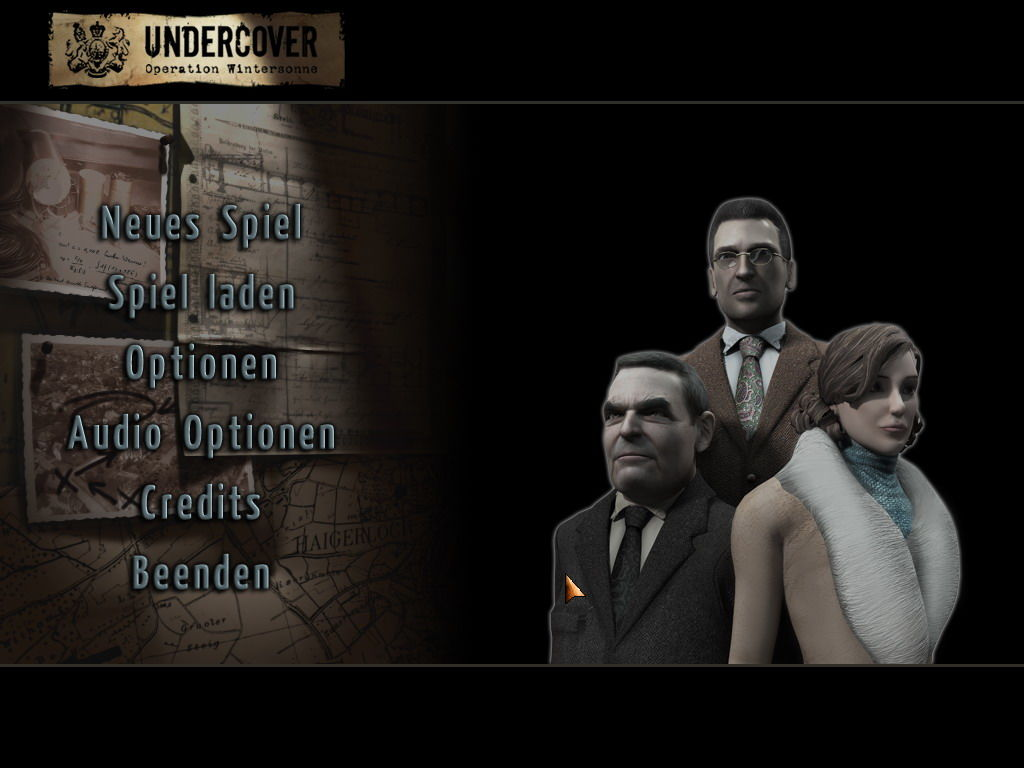 Undercover: Operation Wintersun Windows Main menu