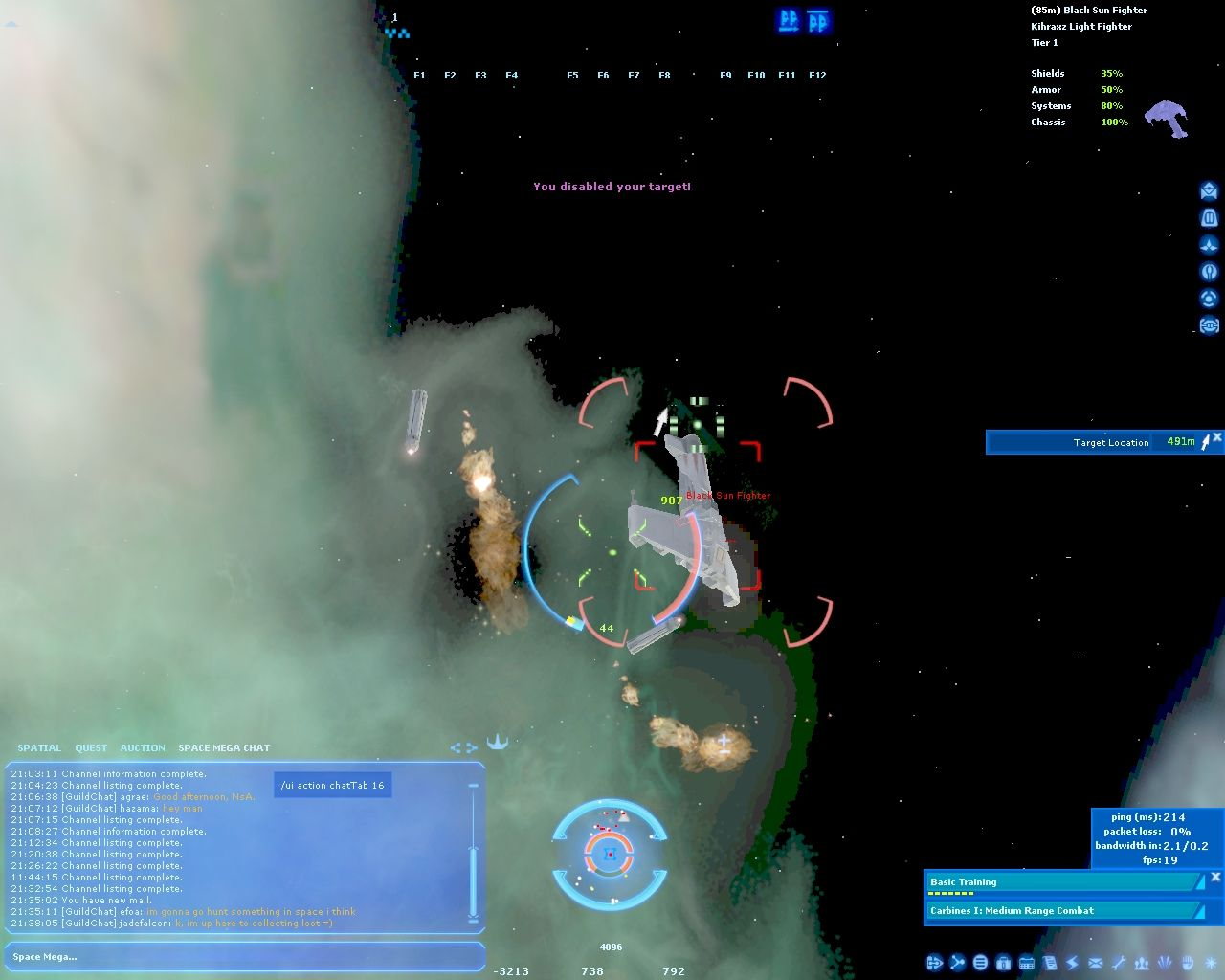 Star Wars: Galaxies - Jump to Lightspeed Windows When you destroy enemy subsystem in will fall away from its ship.
