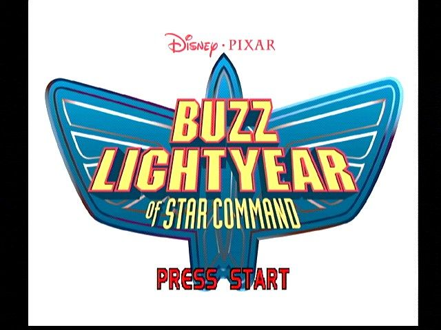 Disney•Pixar Buzz Lightyear of Star Command Dreamcast Title Screen