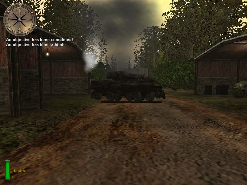 Medal of Honor: Allied Assault Windows The tank has been destroyed :)