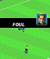 2005 Real Soccer J2ME Foul committed.