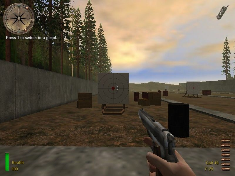Medal of Honor: Allied Assault Windows Practicing with the pistol...