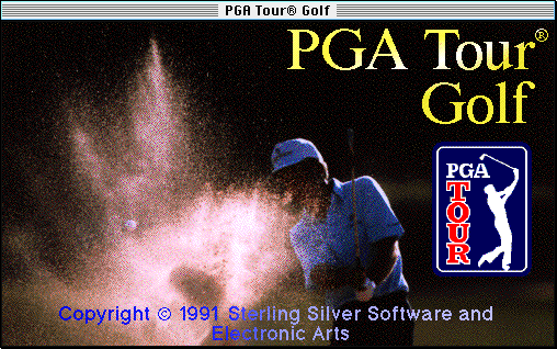 PGA Tour Golf Macintosh Title screen