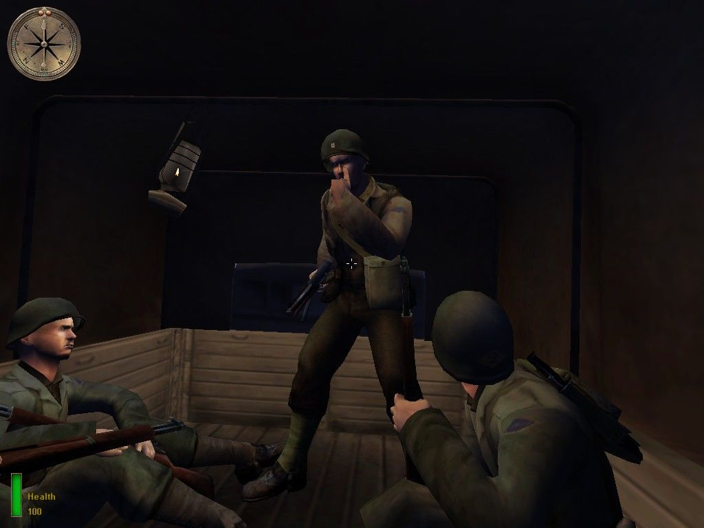 Medal of Honor: Allied Assault Windows In-mission briefing by our squad leader