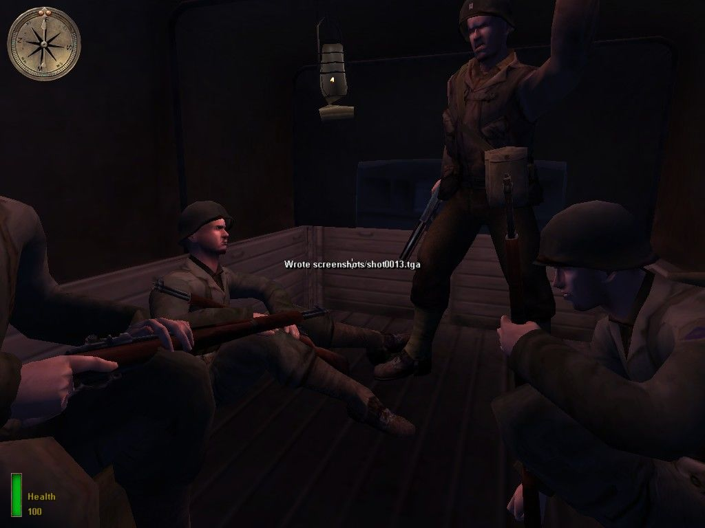 Medal of Honor: Allied Assault Windows My comrades - we are sitting in a truck, waiting for the action...