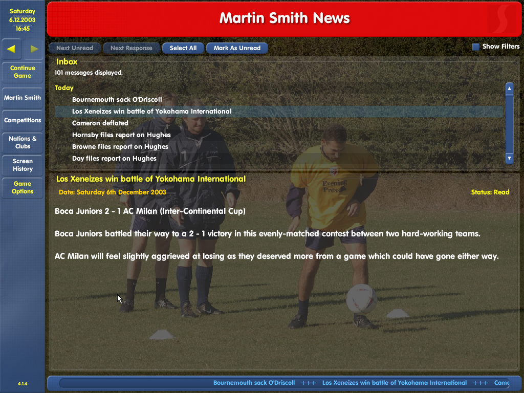 Championship Manager: Season 03/04 Windows Will they now?