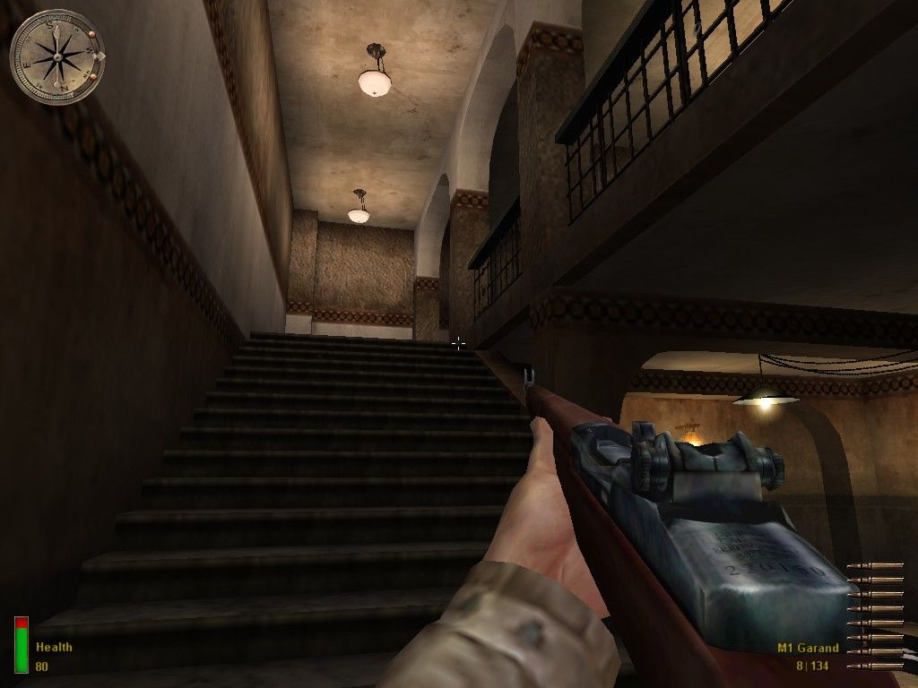 Medal of Honor: Allied Assault Windows Up the stairs...
