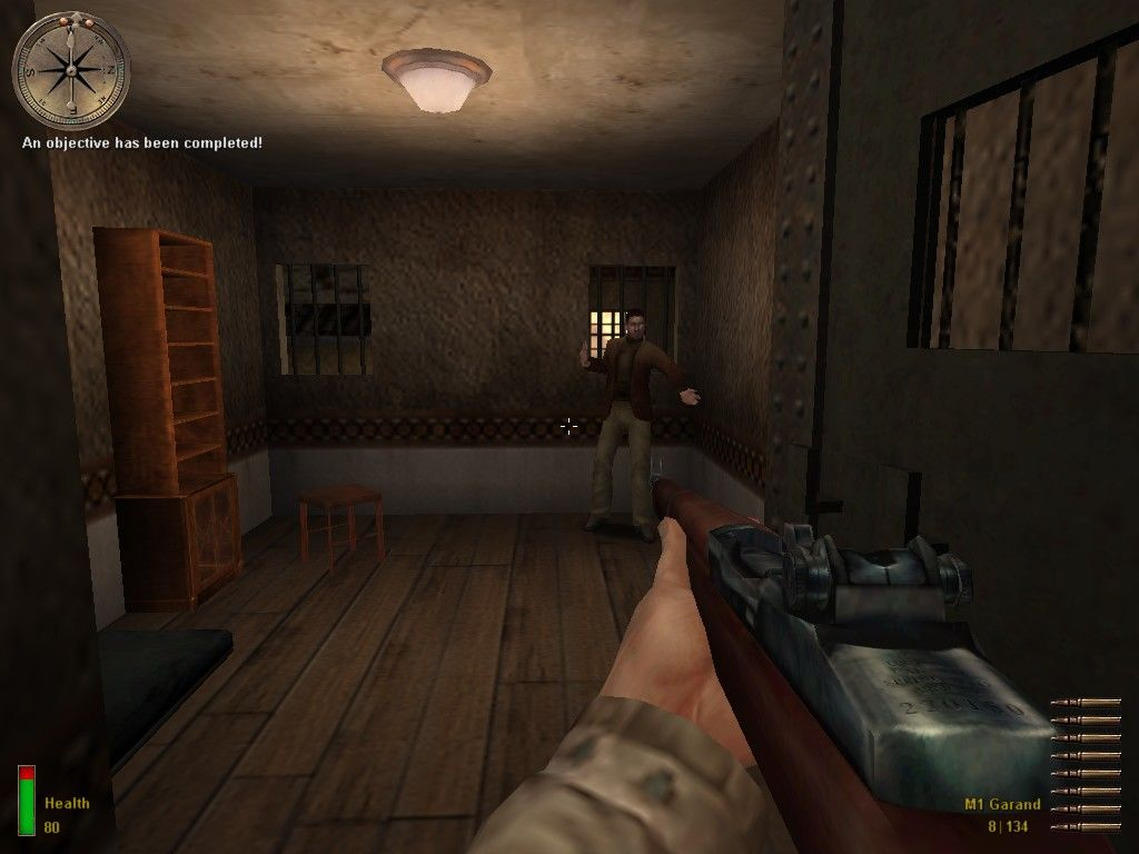 "Medal of Honor: Allied Assault Windows ... where we'll find our ""mission objective"", the captured agent."