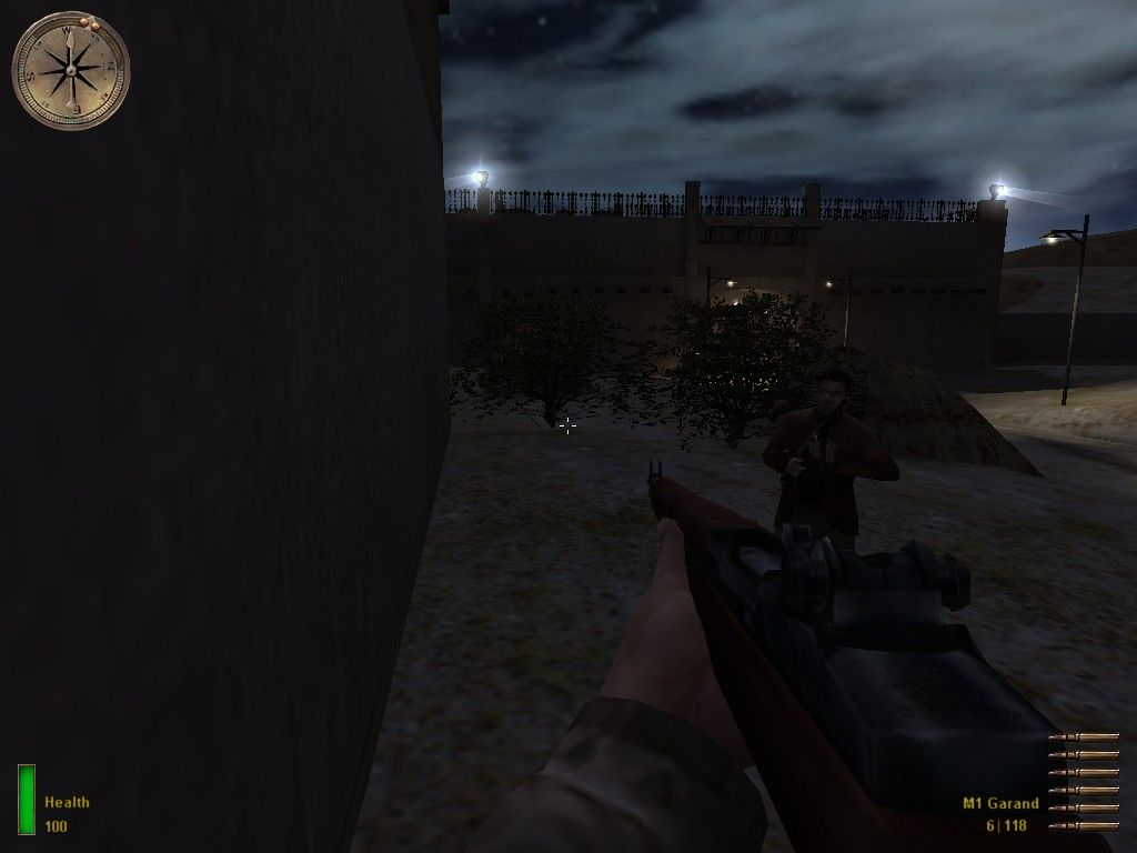 Medal of Honor: Allied Assault Windows Getting into the light will kill you - so the agent shows me how to avoid them