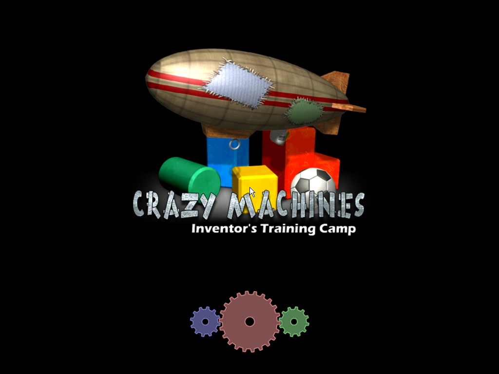 Crazy Machines 1.5: More Gizmos, Gadgets, & Whatchamacallits Windows Inventor's Training Camp - Title screen