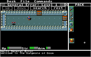 Rogue Atari ST Welcome to the Dungeons of Doom, mortal!