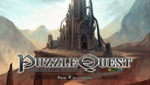 Puzzle Quest: Challenge of the Warlords PSP Title screen